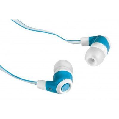 Наушники вставки Trendy 702 белый + голубой
