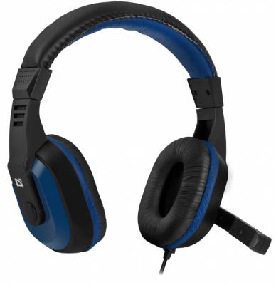 Игровая гарнитура Warhead G-190 синий + черный, кабель 2,5 м