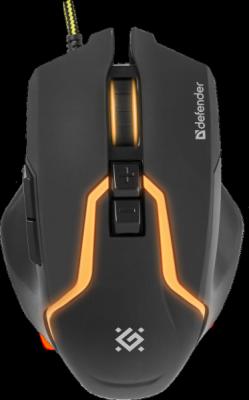 Проводная игровая мышь Warhead GM-1750 оптика,7 кнопок,1200-3200dpi