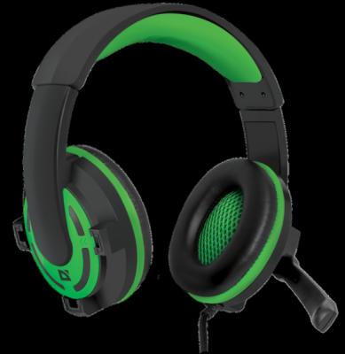 Игровая гарнитура Warhead G-300 зеленый, кабель 2,5 м