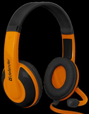 Игровая гарнитура Warhead G-120 черный + оранжевый, кабель 2 м