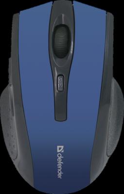 НОВИНКА. Беспроводная оптическая мышь Accura MM-665 синий,6 кнопок, 800-1600 dpi