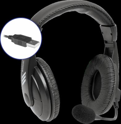 НОВИНКА. Компьютерная гарнитура Gryphon 750U USB, черный, 1.8м кабель
